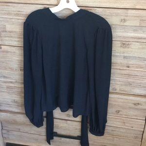 Rebecca Minkoff tie back blouse